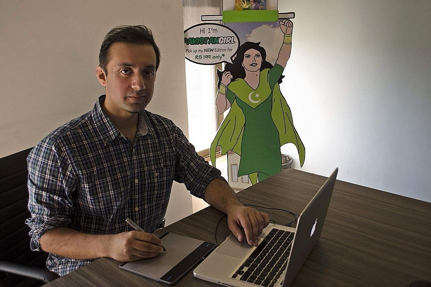 Mr Hassan Siddiqui, creator of the Pakistan Girl comic series, says there is a shortage of female role models and superheroes in the conservative country's mainstream media.