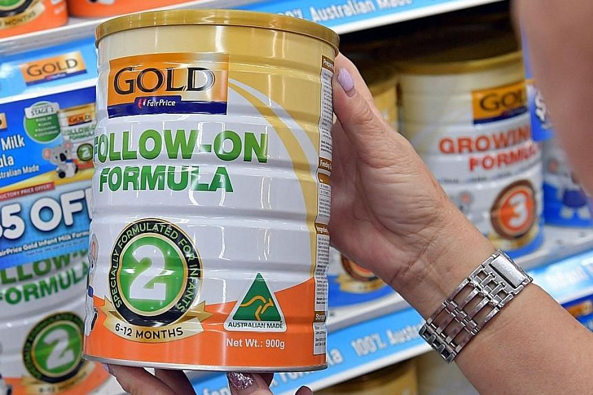 FairPrice Gold formula milk, which was launched yesterday, is sourced from Australia. The house brand milk is available in three variants, costing between $27 and $29 for a 900g tin.
