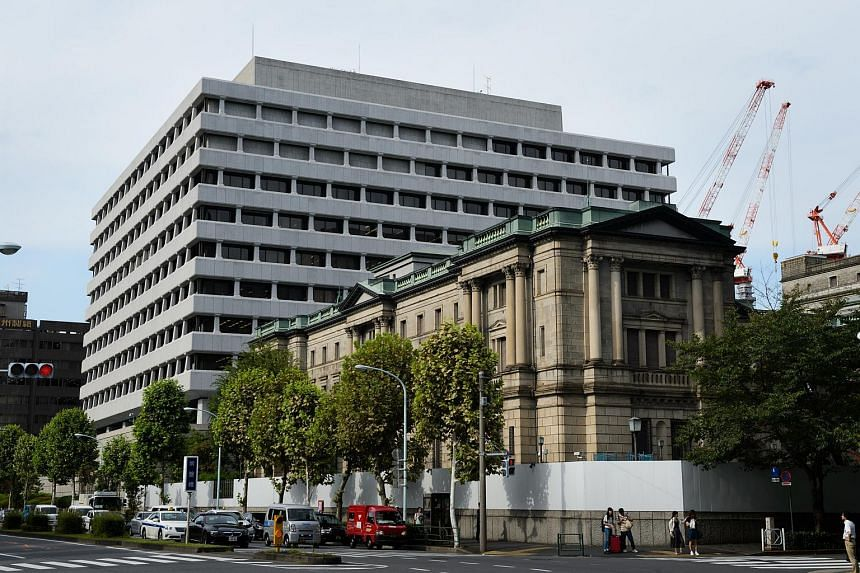 The Bank of Japan (BOJ) headquarters stands in Tokyo, Japan.