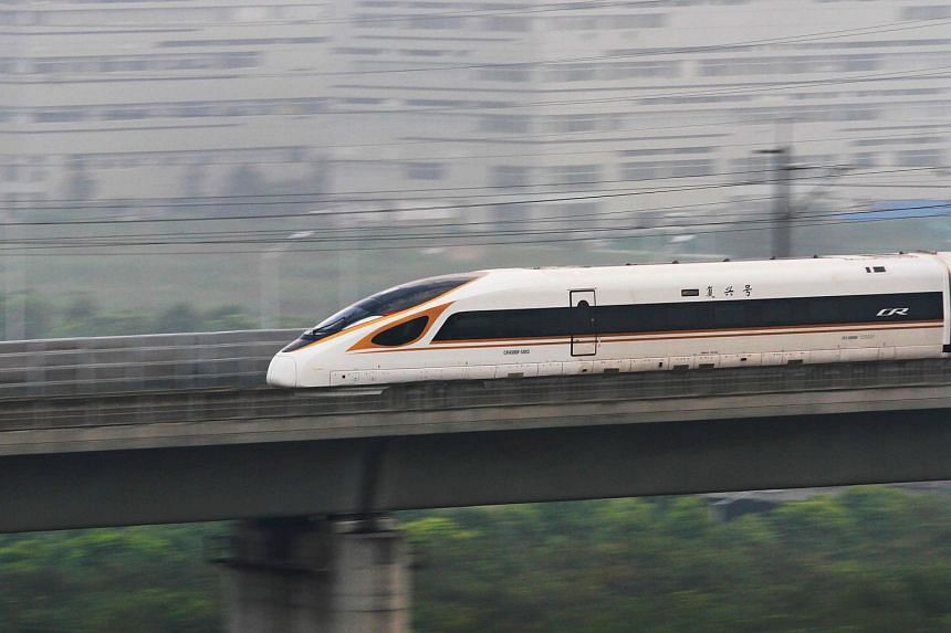 China has raised the maximum speed of bullet trains on the Beijing-Shanghai line to 350kmh, up from 300kmh.