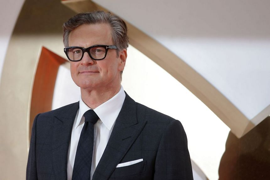 Colin Firth poses during the World premiere of Kingsman: The Golden Circle in London on Sept 18, 2017.