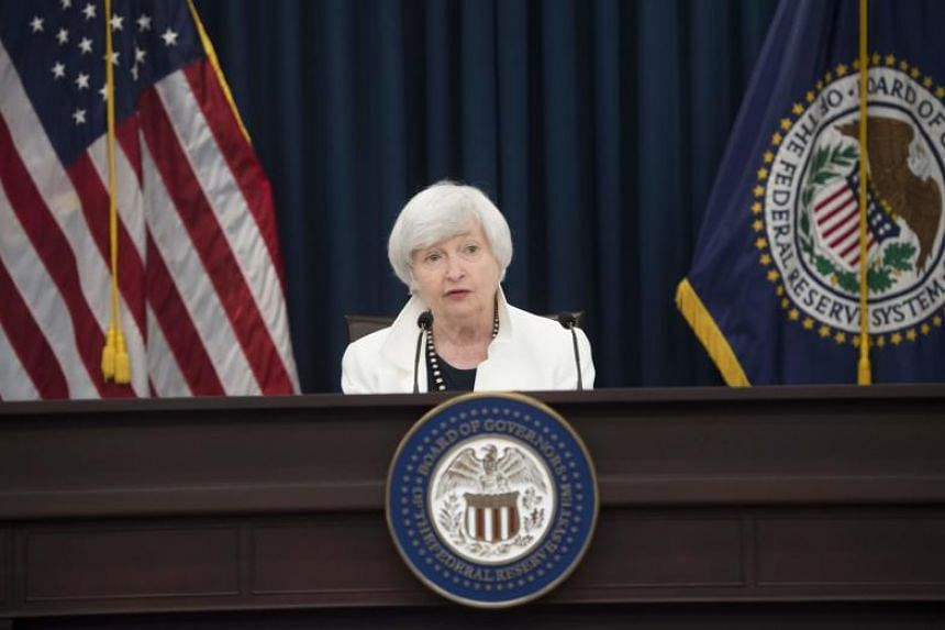 Federal Reservecchair Janet Yellen speaks during a press conference after the rate-setting meeting in Washington, DC, on September 20, 2017.