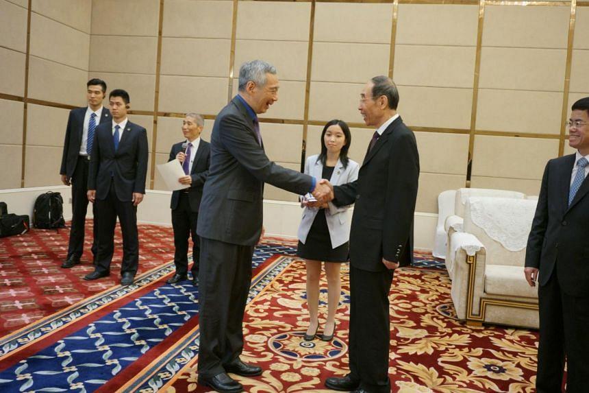 PM Lee Hsien Loong meets Fujian Party Secretary You Quan.