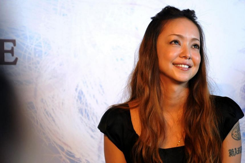 Japanese singer Namie Amuro at a press conference in Singapore on July 6, 2012.