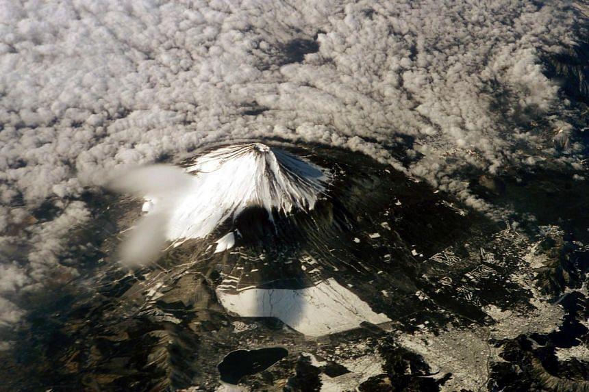 Mt Fuji on the island of Honshu, Japan.