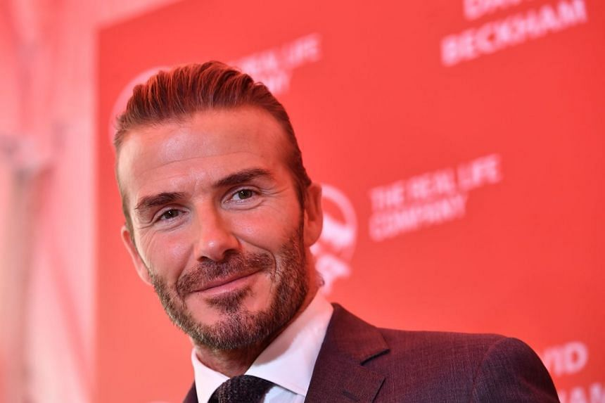 David Beckham at an AIA event at Clifford Square on Sept 21, 2017.