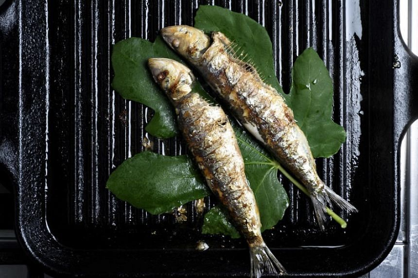 Fresh sardines are delightful and well worth knowing. For an extra flourish, cook them on large fig leaves.