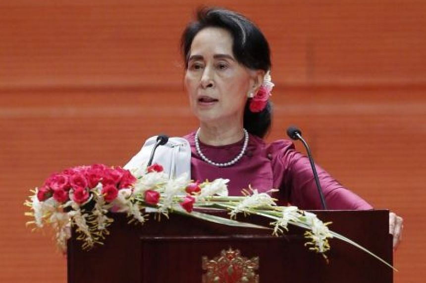 "FOCUS ON MILITARY'S ACTIONS: ""We have never criticised the military itself, but only its actions. We may disagree on these types of actions.'' - MYANMAR LEADER AUNG SAN SUU KYI"