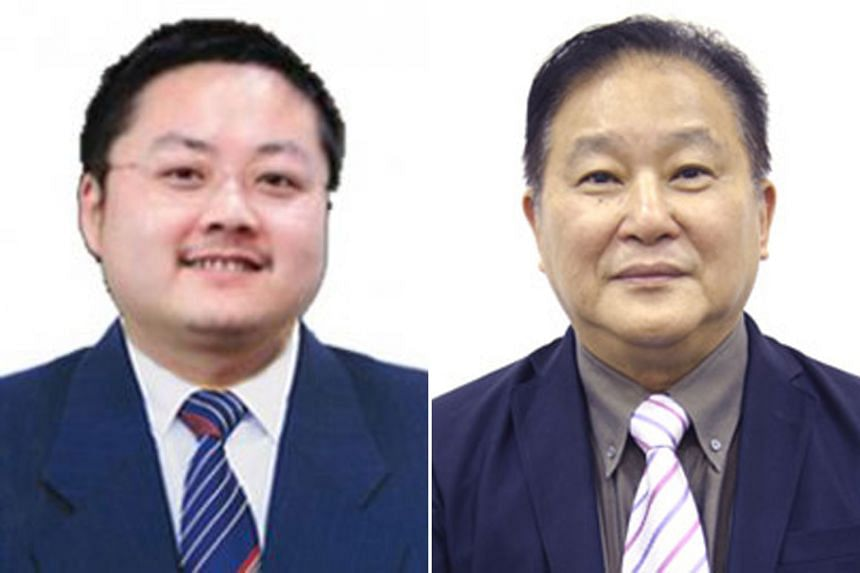 Shanghai Turbo's former executive director Liu Ming (left, top) and the company's independent non-executive director Raymond Lim.