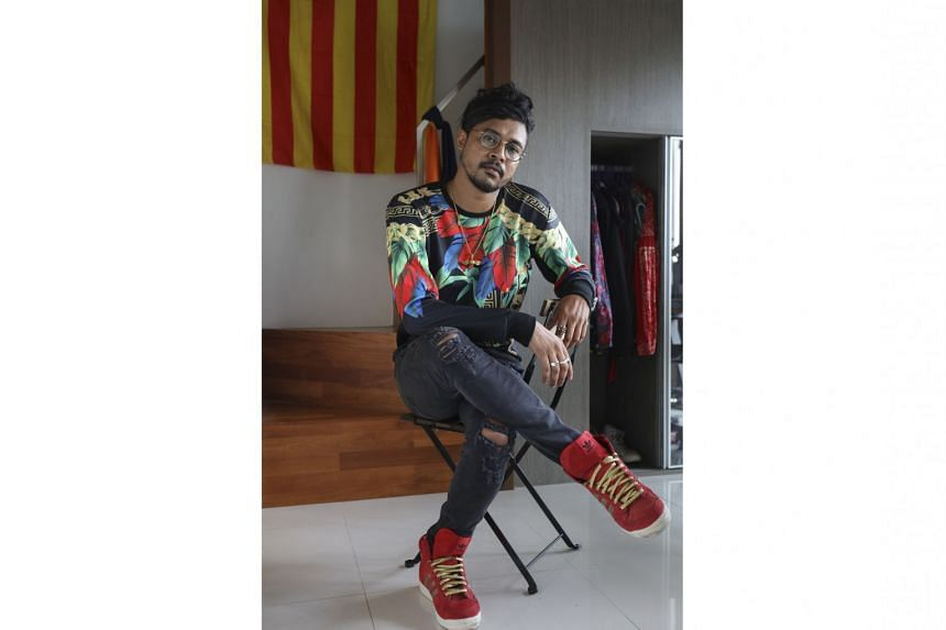 James Kumar (wearing a pair of limited- edition Year of the Horse adidas shoes) loves to shop online.