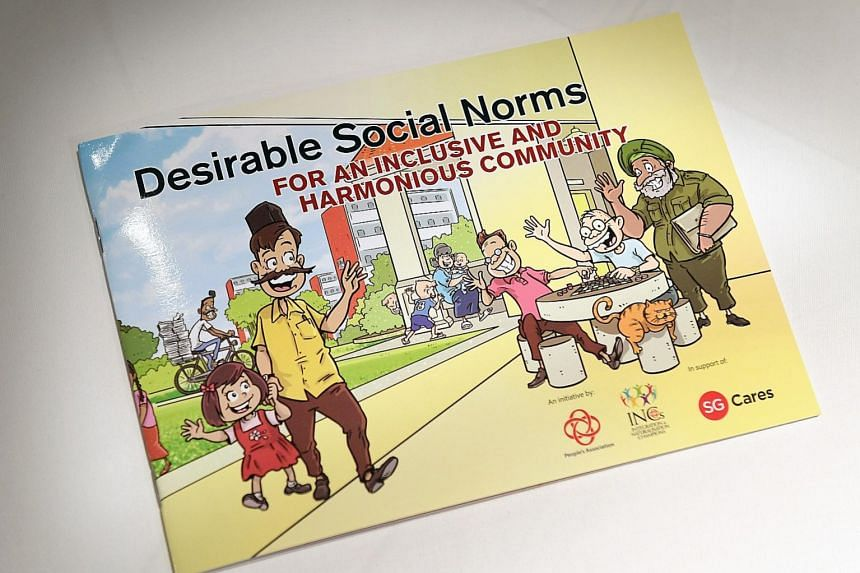 The 40-page book consists of illustrations depicting commonplace faux pas that often seem to stem from a lack of knowledge. According to Marine Parade GRC MP Fatimah Lateef, the comic strips may show up on MRT trains, buses and posters in housing est