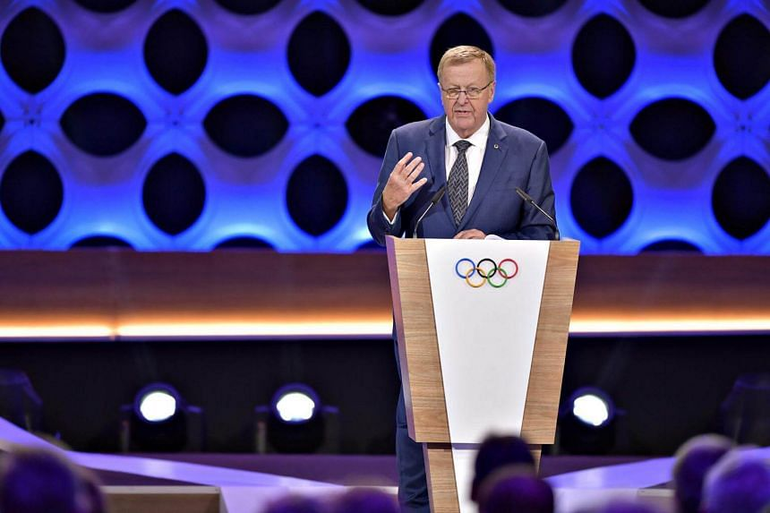 Australian Olympic chief John Coates speaks during the 131st International Olympic Committee session in Lima on Sept 13, 2017.