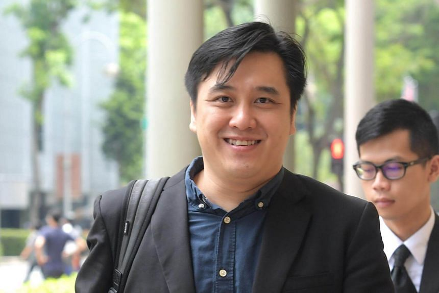 Darius Cheng, founder of 99.co, returning to the Supreme Court after lunch break on Sept 20, 2017.