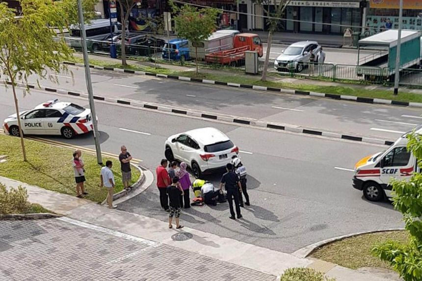 An 84-year-old woman died in hospital after she was allegedly hit by a car at a Housing Board estate in Chua Chu Kang on Thursday (Sept 21).