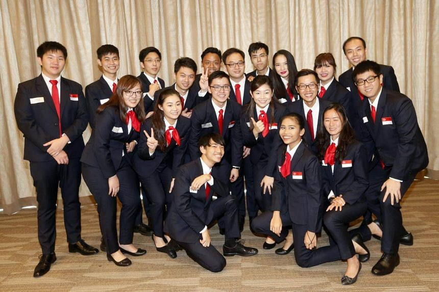 A contingent of 21 students from the polytechnics and the ITE at the ITE's Ang Mo Kio headquarters will travel to Abu Dhabi in the United Arab Emirates to compete at the international WorldSkills competition.