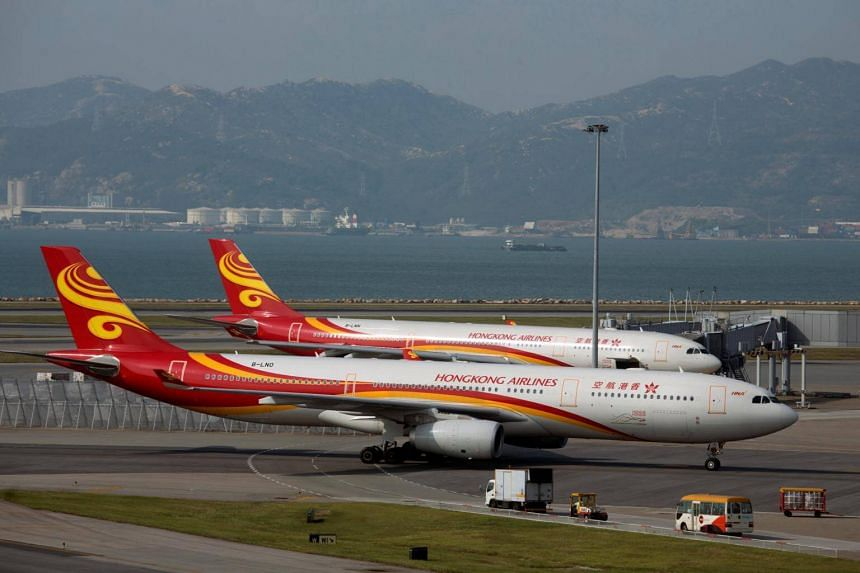 The incident between the Hong Kong Airlines flight HX236 and the Air Cargo Global flight CW831 happened at 8.55am on Friday.