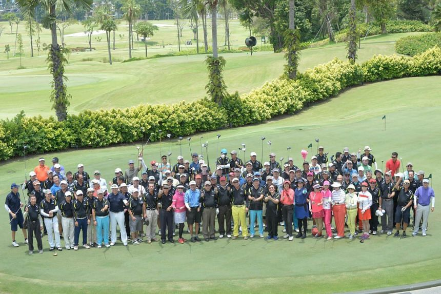 The Singapore Table Tennis Association raised over $588,000 at a fund-raising golf tournament on Friday (Sept 22), the largest sum it has raised at the biennial event.