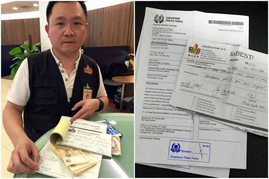 Goh Ting Chee (above) cheated food sellers from places such as Tiong Bahru Market and Pek Kio Market and Food Centre.