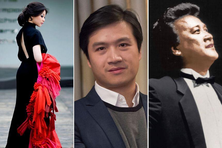 (From left) Soprano Huang Ying, tenor Zhang Jianyi and baritone Zhou Zhengzhong