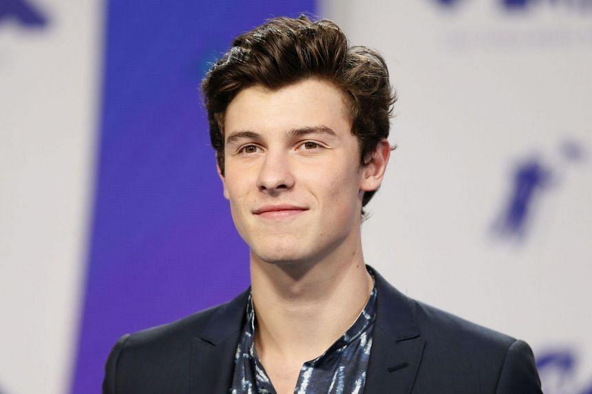Mendes at the 2017 MTV awards.