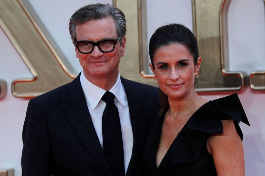 Colin Firth and wife Livia Giuggioli at the world premiere of Kingsman: The Golden Circle in London.