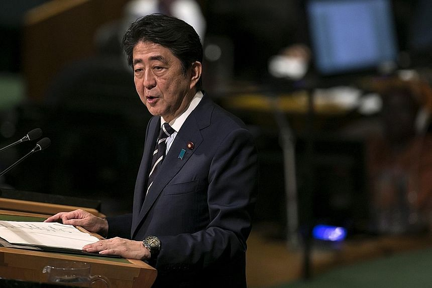 Japanese Prime Minister Shinzo Abe is expected to hold a press conference on Monday, after returning from his trip to the US.
