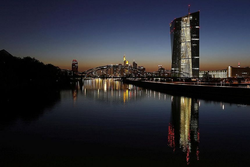 Indications that the euro zone economy remains robust could convince policymakers at the European Central Bank, which has its headquarters in Frankfurt, Germany, to taper its quantitative easing programme.