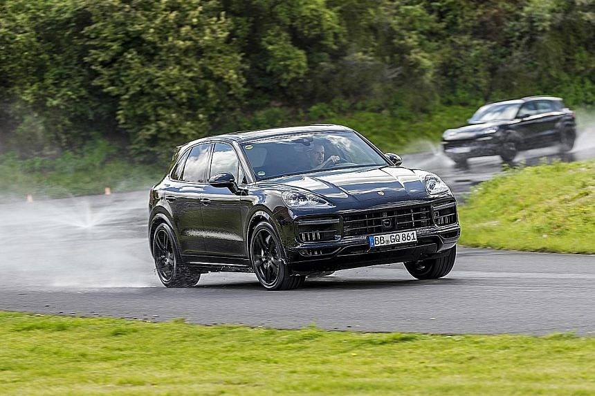 The Cayenne's uncanny off-road ability stands out in wet weather.