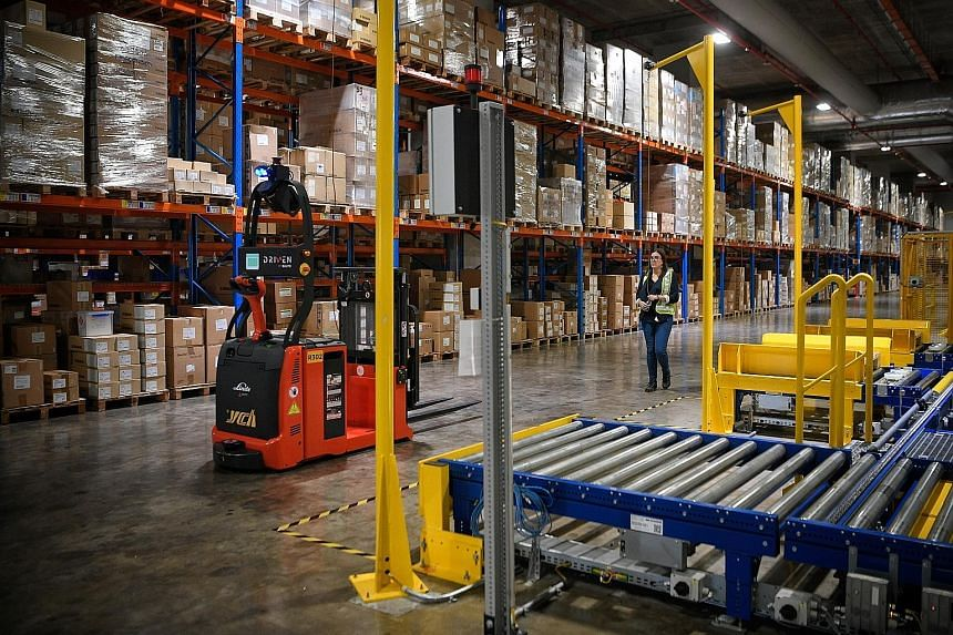 The warehouse at Supply Chain City, which boasts what is said to be the region's largest and tallest automated storage retrieval system.