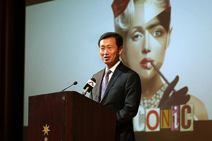 Mr Ong Ye Kung at the Singapore Committee for UN Women's fund-raising dinner yesterday.