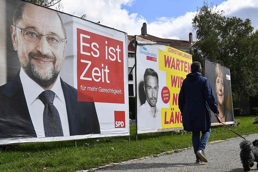 German Chancellor Angela Merkel is expected to win by a double-digit margin tomorrow.