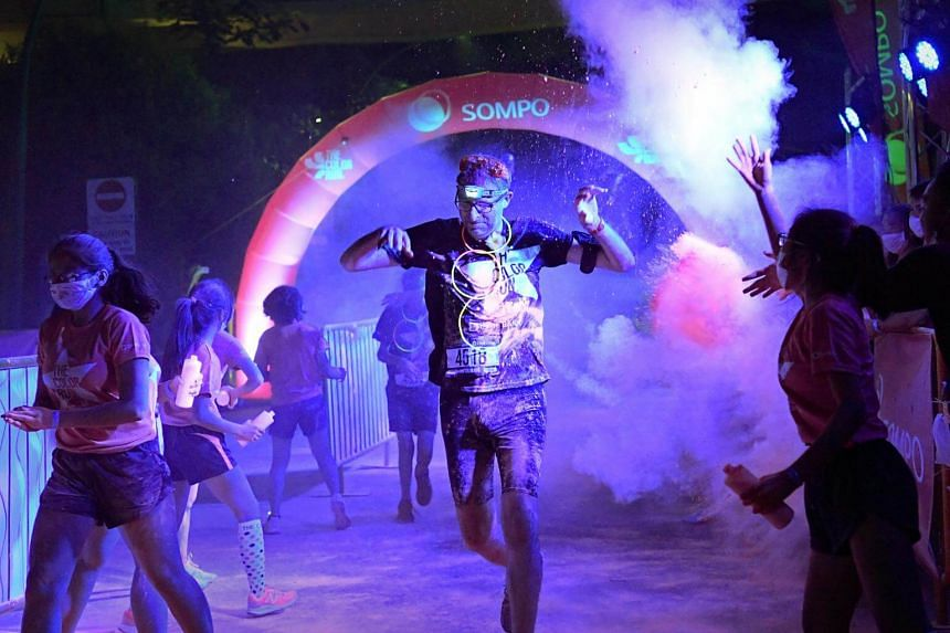 The fifth addition of the Color Run event attracted more than 9,000 participants this year.