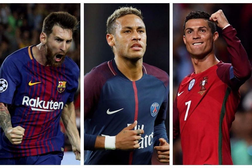 ON the Fifa shortlist are (from left) Messi, Neymar and Ronaldo.