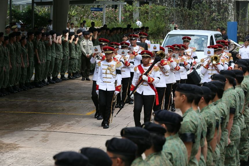 Servicemen of all ranks lined up on both sides of the driveway of Mandai Crematorium, from lance corporals to colonels, and the officers saluted the hearse as it arrived.