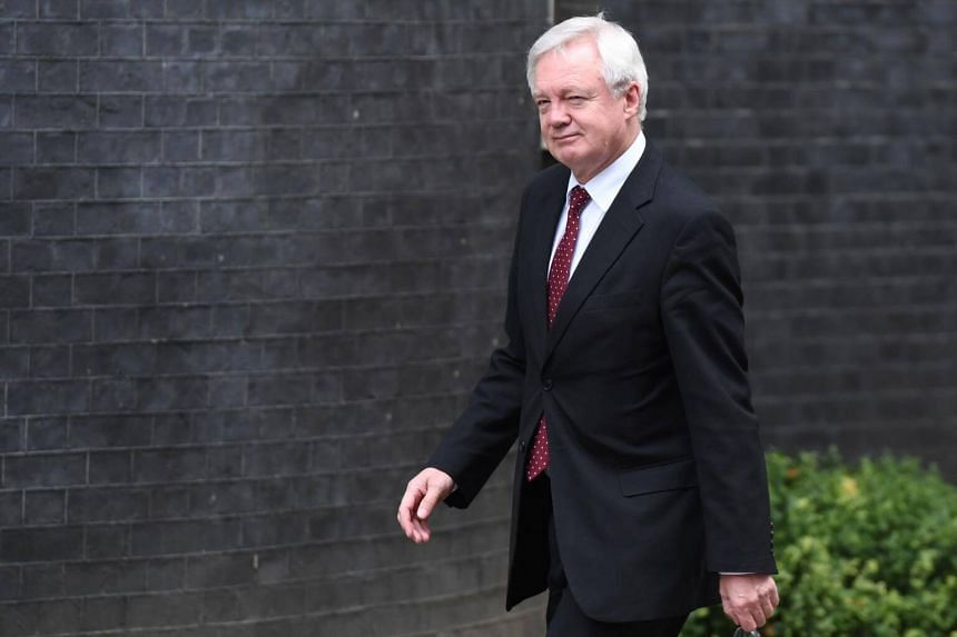 British Brexit minister David Davis arrives to attend a Cabinet meeting at 10 Downing Street in central London, on Sept 21, 2017.