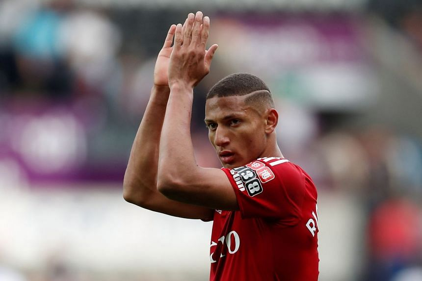Watford's Richarlison applauds the fans at the end of the match.