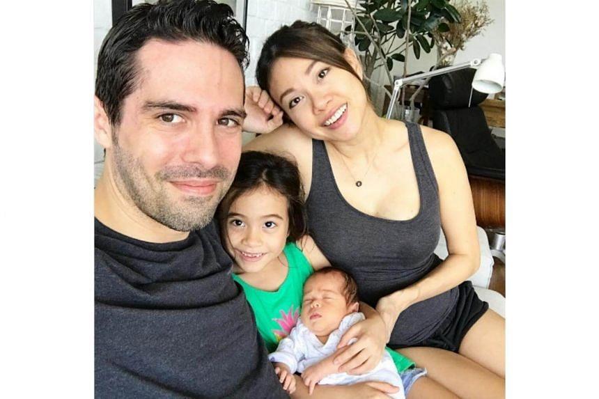 Jamie Yeo and her husband Rupert with Alysia and baby Luke.