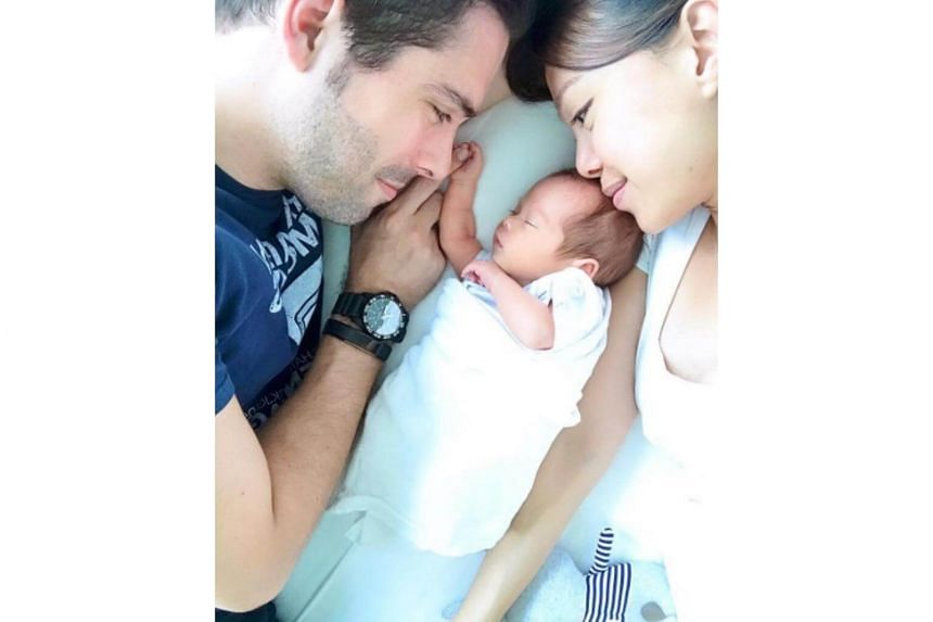 Jamie Yeo, 40 and her 38-year-old British expat husband Rupert welcomed baby Luke, who came home on Sunday after three weeks at the Singapore General Hospital.