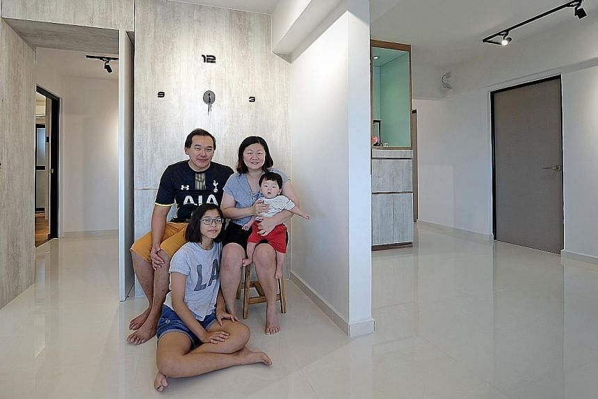 Mr Jimmy Lim lives in a 2,067 sq ft flat with his family, including wife Alice Khor, daughter En Yu, 12, and son Yi Chen, six months old.