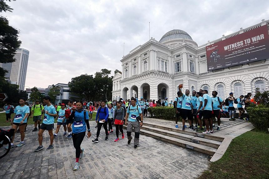 Let's Take A Walk, an extreme endurance walking event which is in its 20th year, kicked off at the National Museum of Singapore yesterday.