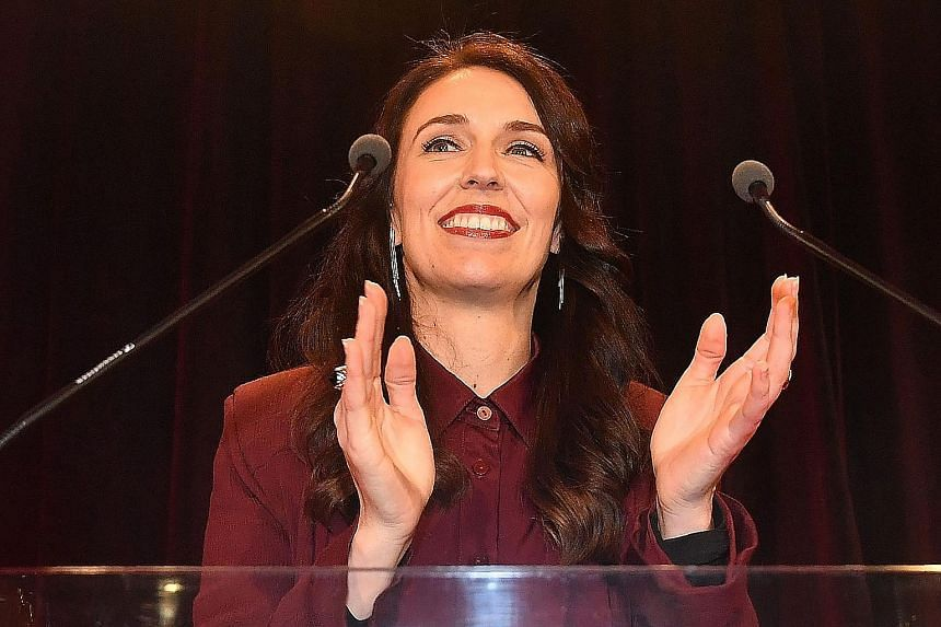 Labour Party leader Jacinda Ardern still hopes to become prime minister as part of a Labour-Greens-New Zealand First coalition. New Zealand Prime Minister Bill English and his wife Mary acknowledging his supporters in Auckland yesterday. Mr English i