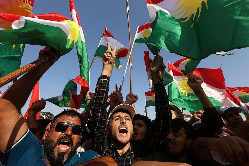 Iraqi Kurds gathered in Erbil on Friday during an event to urge people to vote in Monday's independence referendum. Iraqi Kurdish leader Masoud Barzani insisted that the vote would be held as planned despite a warning from the UN Security Council tha