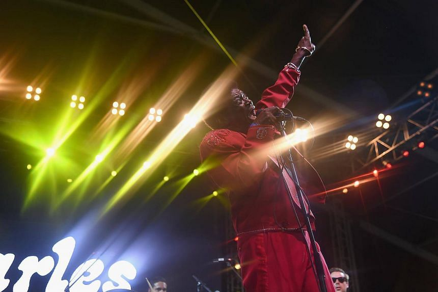 Charles Bradley of Charles Bradley & His Extraordinaires performing onstage during the 2017 Governors Ball Music Festival.