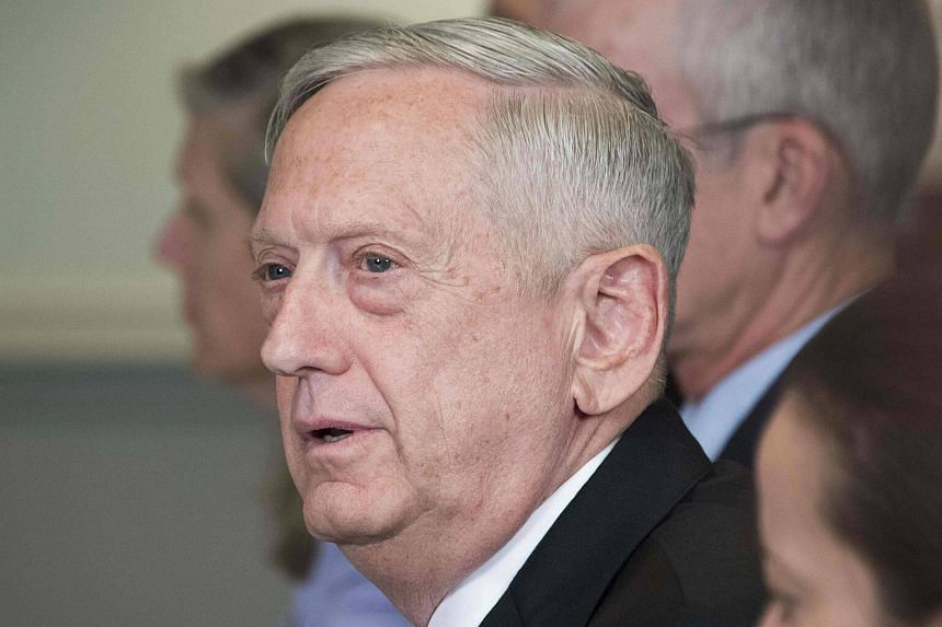 US Secretary of Defense Jim Mattis speaks to the press during a meeting at the Pentagon in Washington, on Sept 21, 2017.