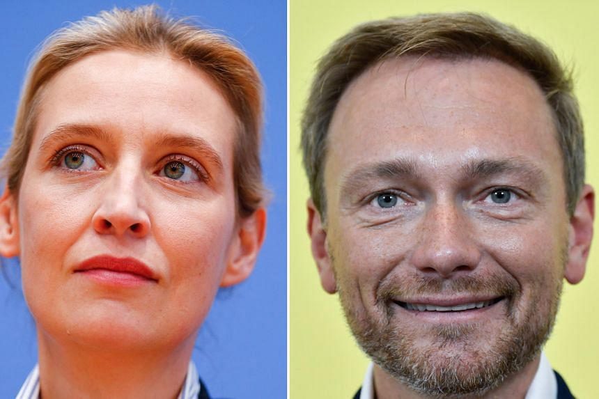 ALICE WEIDEL (LEFT) AND CHRISTIAN LINDNER (RIGHT)