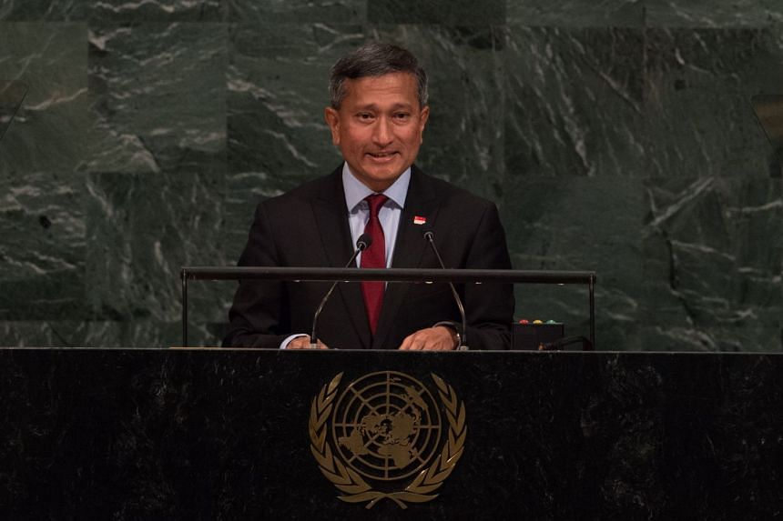 Dr Balakrishnan addresses the 72nd Session of the UN General Assembly at the UN headquarters in New York.