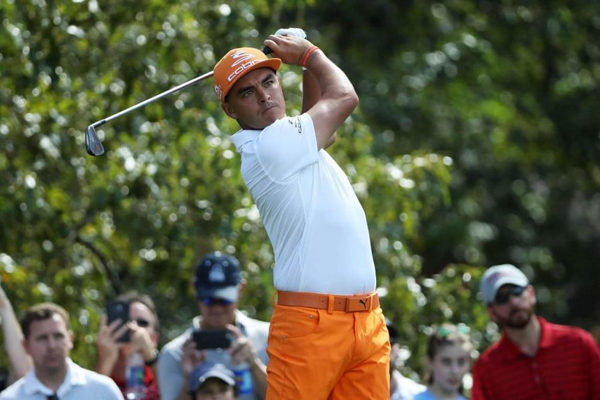 Rickie Fowler hitting a shot during the TOUR Championship on Sept 24, 2017.