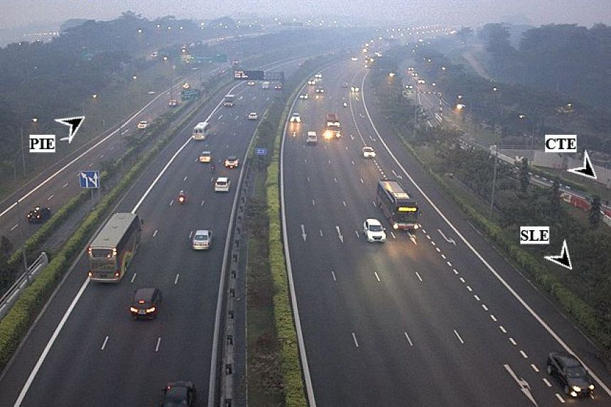 The view from Seletar West Link. Some residents in Sengkang have complained of strong smell on Monday (Sept 25).