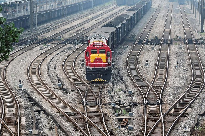 A freight train running on the Chongqing-Xinjiang-Europe Railway route. Rail transport will be expanded southwards under the Southern Transport Corridor that Singapore is partnering Chinese entities to help set up.