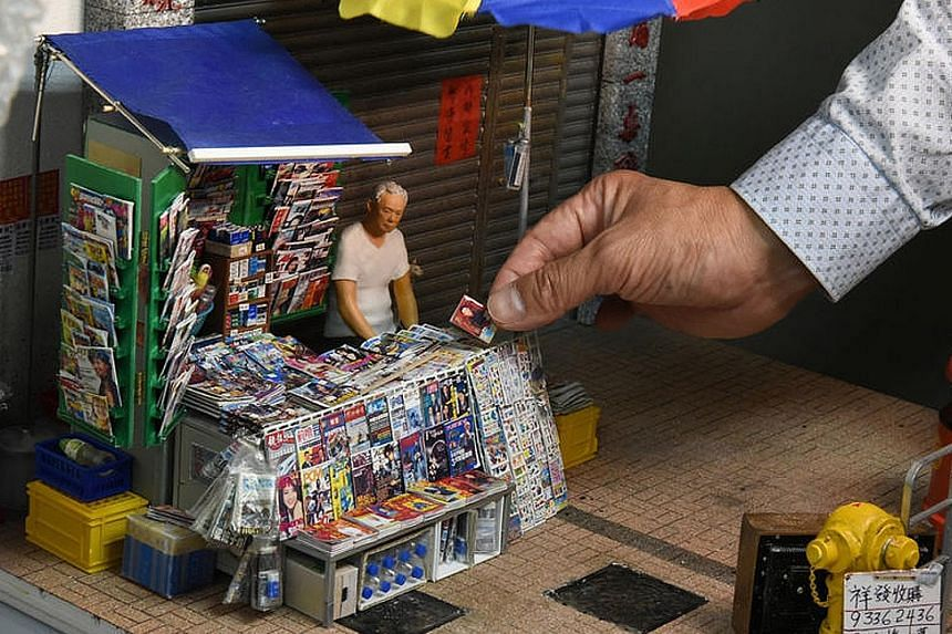 This intricate model of a newsstand in Hong Kong is part of a commemorative heritage exhibition to be held in Tokyo from Friday to Oct 9. In all, 48 miniature renditions of Hong Kong past and present will be displayed at the KITTE shopping complex ne